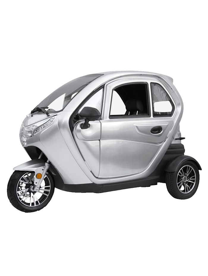 """ECABINO DIDI THURAU EDITION Dreirad-Elektro-Kabinenroller """"Lizzy"""" mit Vorort-Einweisung - 25 km/h, silber"""