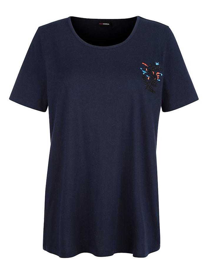 Shirt mit floraler Stickerei