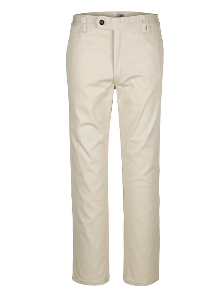 Roger Kent Pantalon taille extensible côtés, Caillou