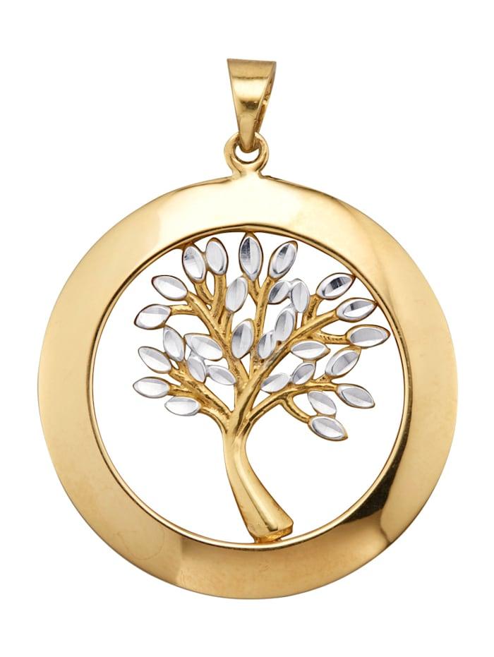 Diemer Gold Lebensbaum-Anhänger, Gelbgoldfarben