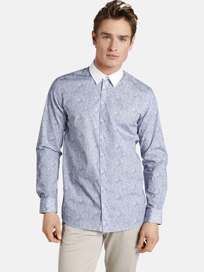 Shirtmaster Shirtmaster Hemd graphicnovel, blau