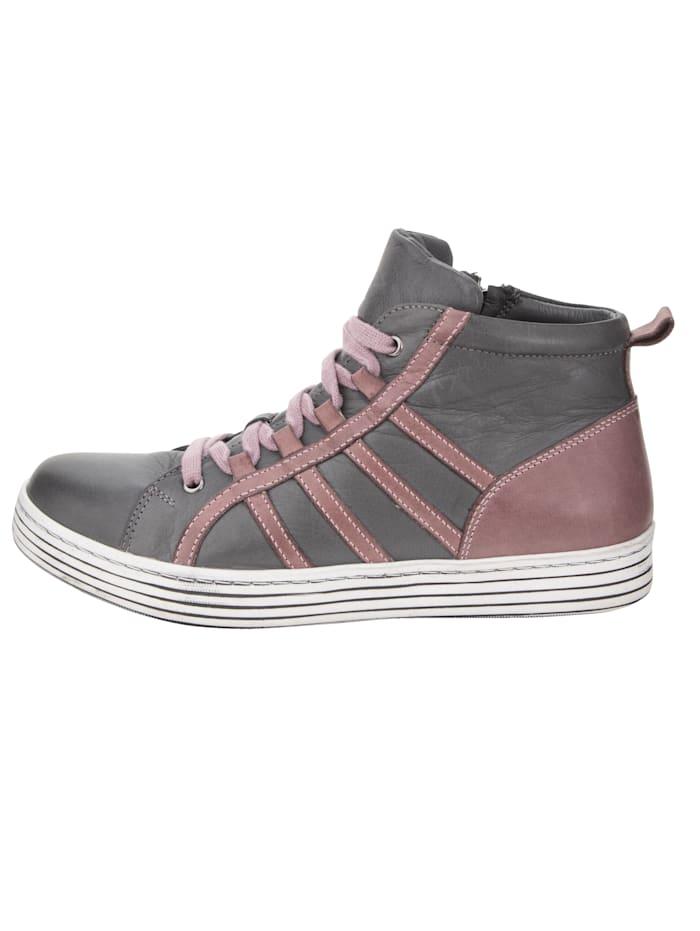 Sneaker met streeppatroon