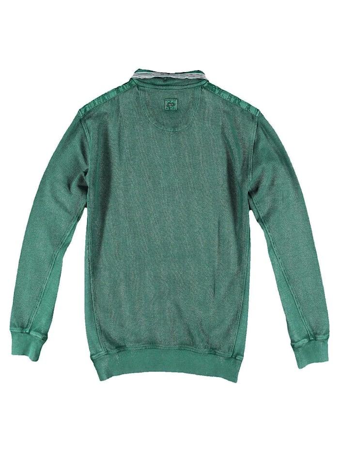 Sweatshirt mit Kontrastbesätzen.
