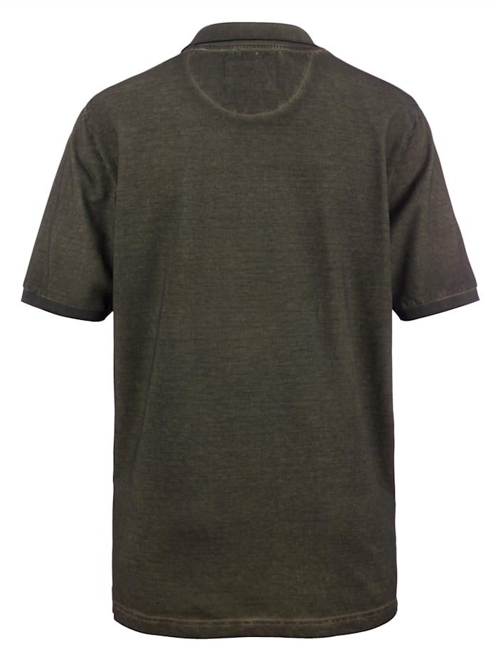 Poloskjorte med oil dye-farging