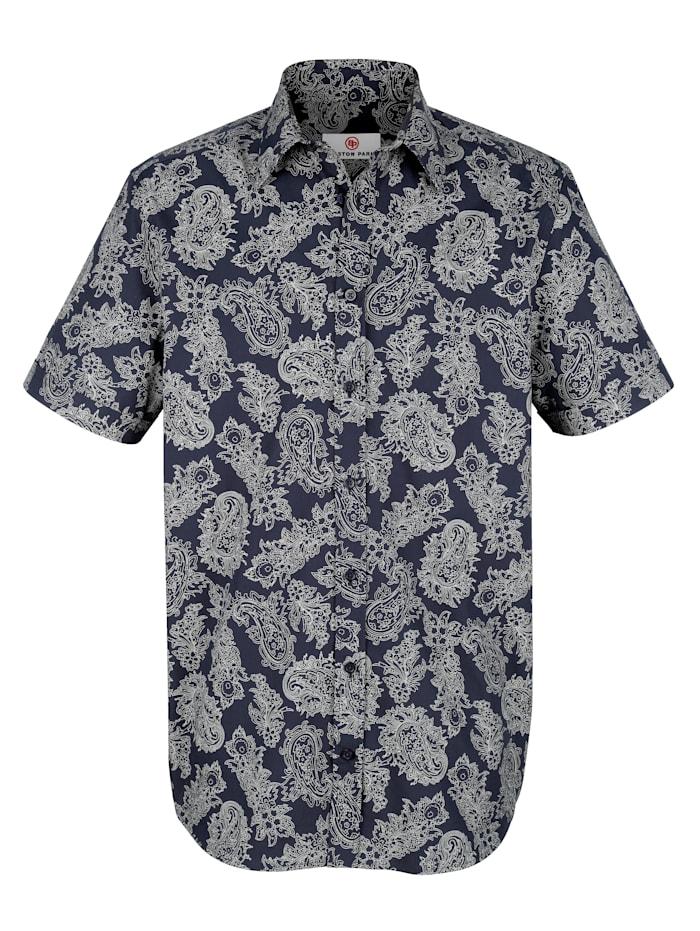 Boston Park Overhemd met korte mouwen, Marine