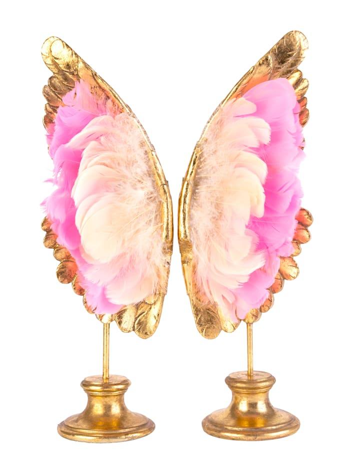 MARAVILLA Deko-Flügel, pink/rosé/goldfarben