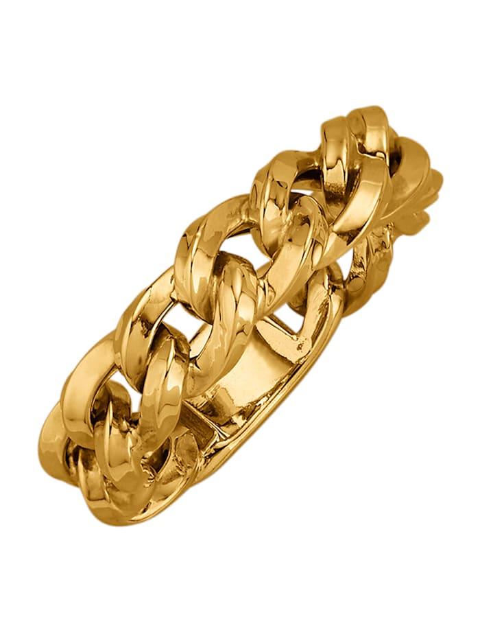 "Bague ""chaîne"" en or jaune 375 en or jaune 375, Coloris or jaune"