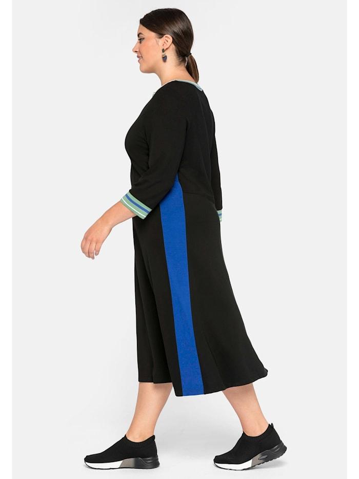 Sheego Kleid mit Zipper und Kontraststreifen