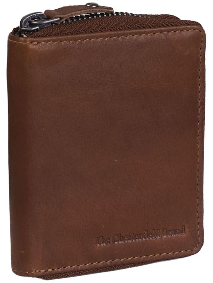 The Chesterfield Brand Wax Pull Up Melany Geldbörse RFID Leder 8,5 cm, cognac