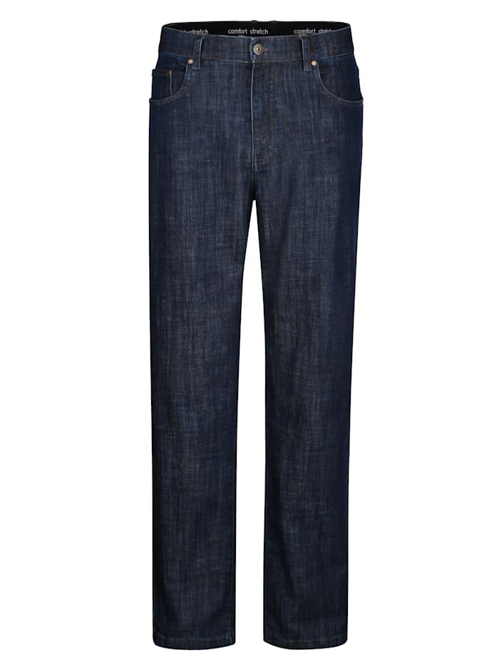Roger Kent Jeans met elastische band, Dark blue