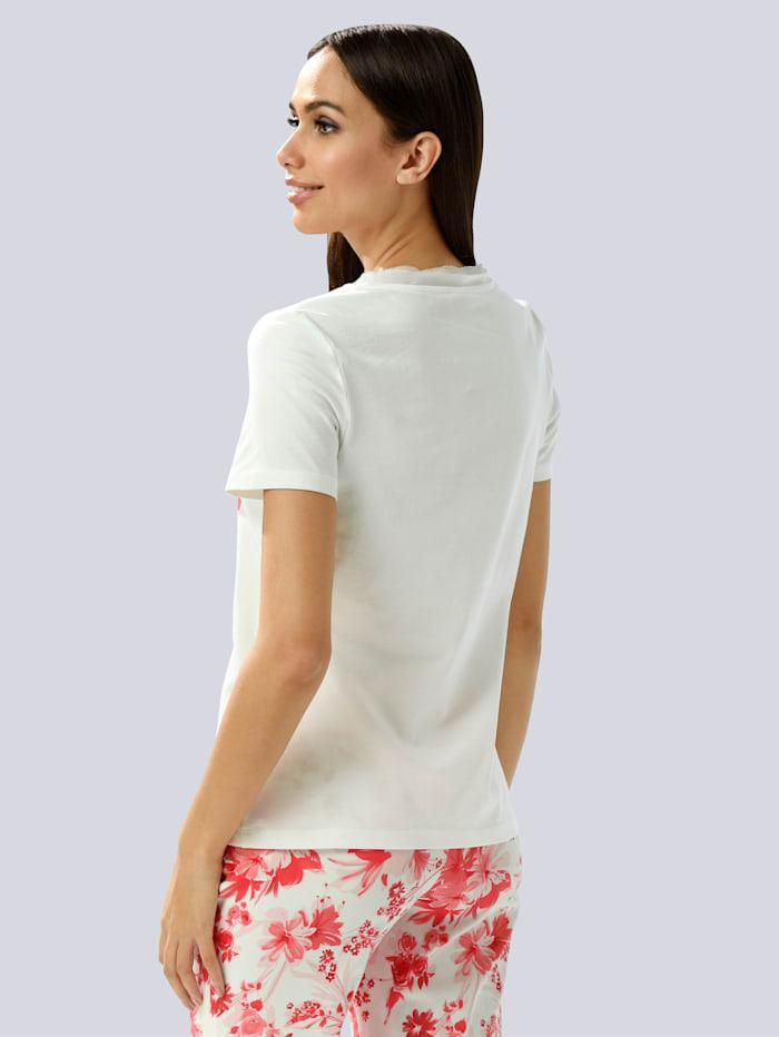 Shirt mit platziertem Blumendruck
