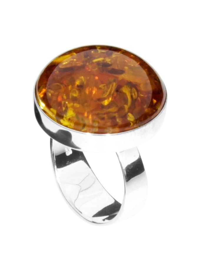 OSTSEE-SCHMUCK Ring - Classic 19 mm - Silber 925/000 - Bernstein, silber