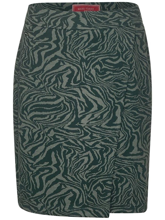 Street One Zebra-Rock in Wrap-Optik, endless green