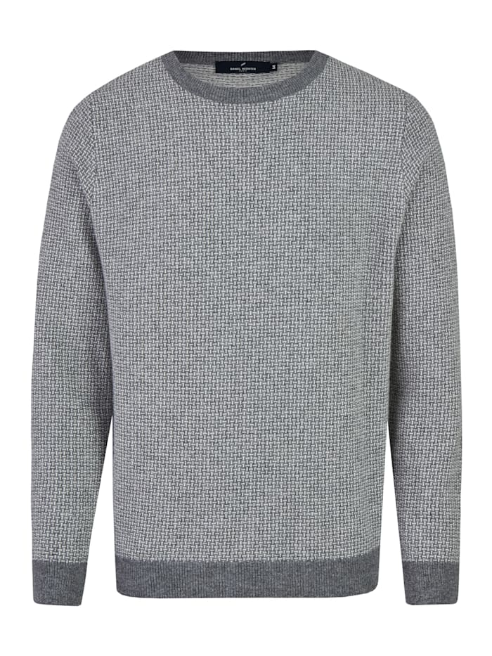 Daniel Hechter Pullover mit stylishem all-over Muster, graphite