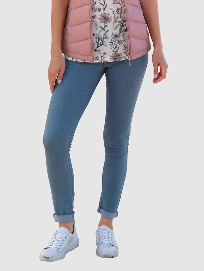 basically you Broek met ruches, Blue bleached