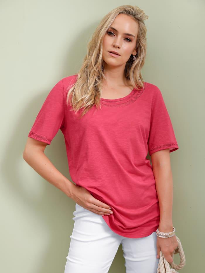 MIAMODA Shirt Met korte mouwen, Koraal