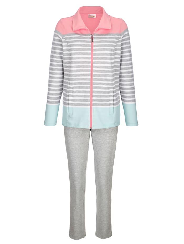 Loungewear set with pretty stripe print