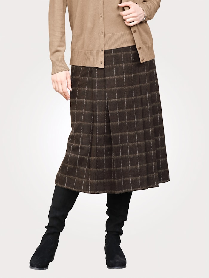 MONA Skirt made from a wool-blend fabric, Brown