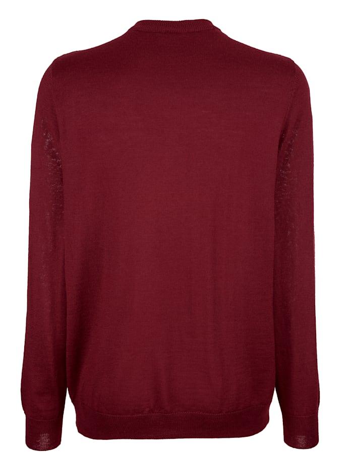 Pullover mit Rhombenstrickmuster im Vorderteil