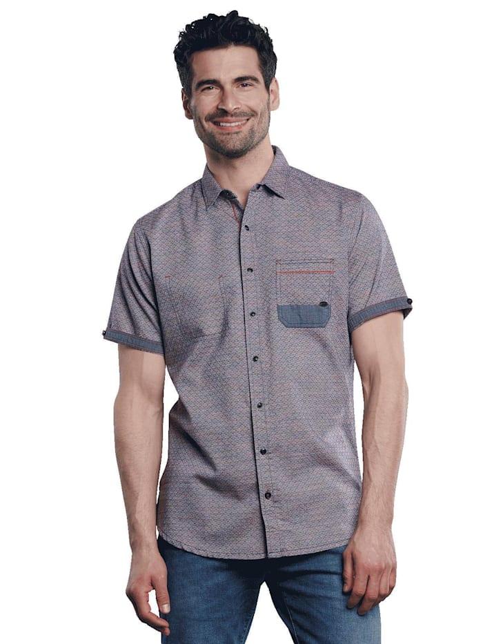 Engbers Kurzarm-Hemd strukturiert, Lachsrot