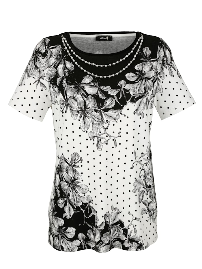 Print top with decorative beads