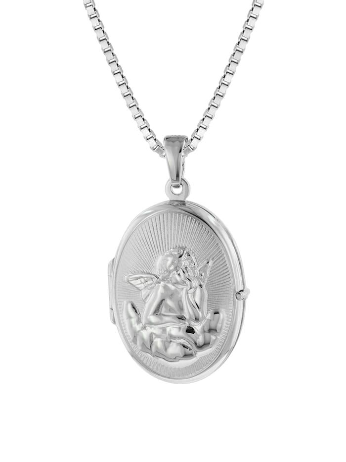 trendor Medaillon Amor mit Venezianer Kette Silber 925, Silberfarben