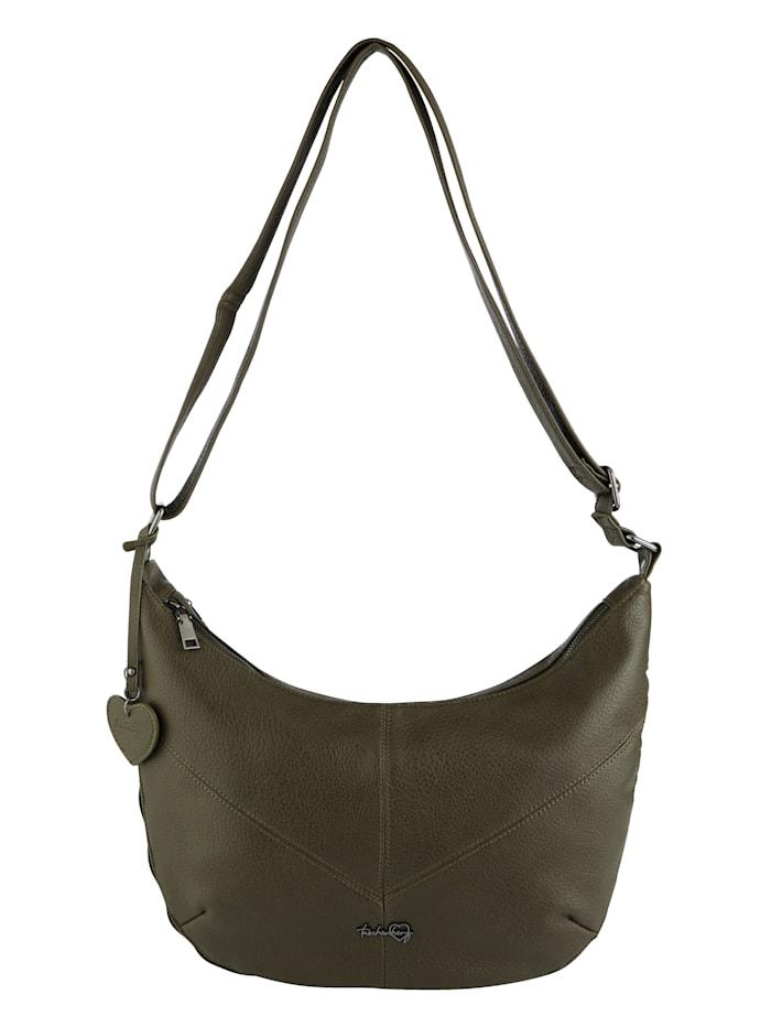 Taschenherz Handbag in an adjustable size, Olive