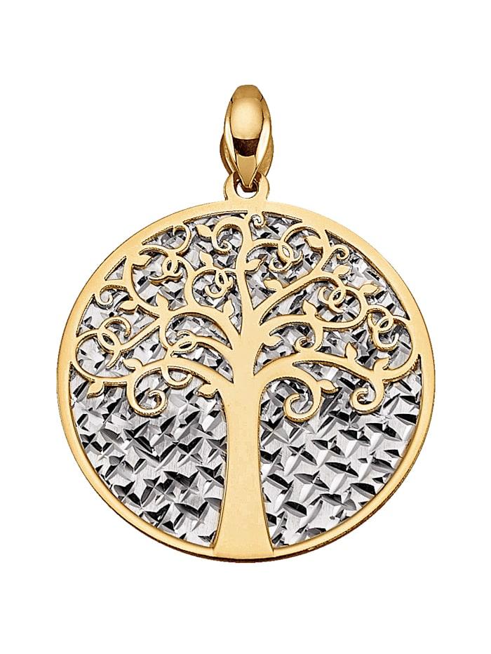 Amara Gold Lebensbaum-Anhänger, Gelb