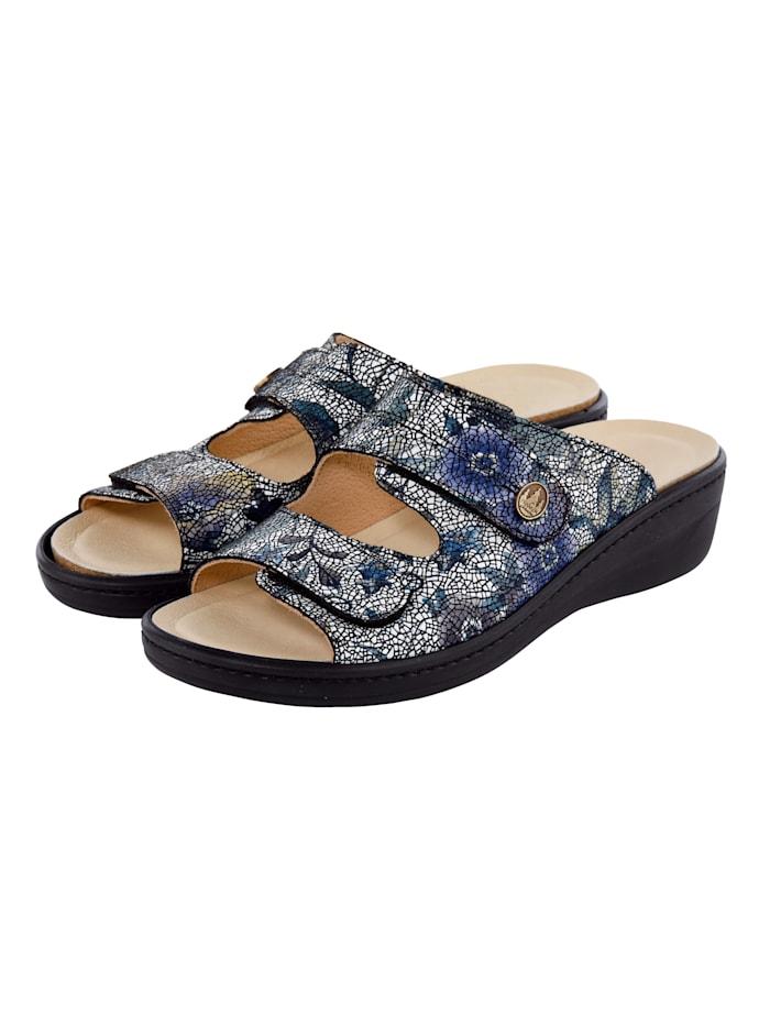 Franken Schuhe Mules, Bleu