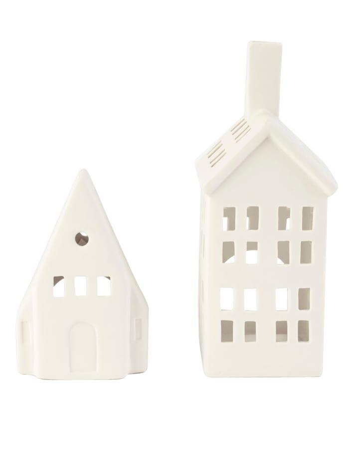 IMPRESSIONEN living Teelichthaus-Set, weiß
