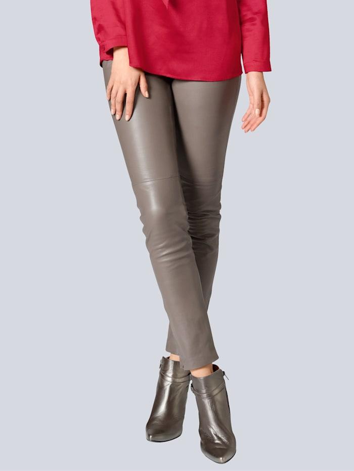 Alba Moda Lederhose aus super softer Qualität, Taupe