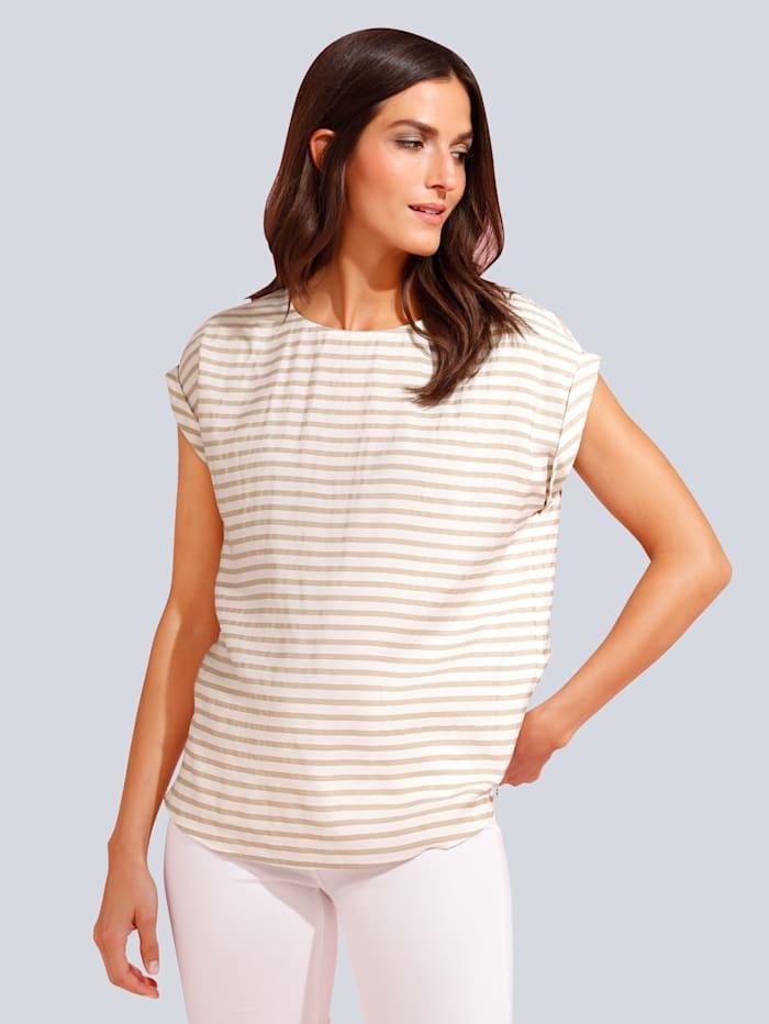 JETTE JOOP T-Shirt im Streifendessin, Creme-Weiß