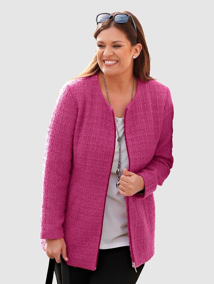 m. collection Blazerjacke in Boucléstruktur-Qualität, Pink