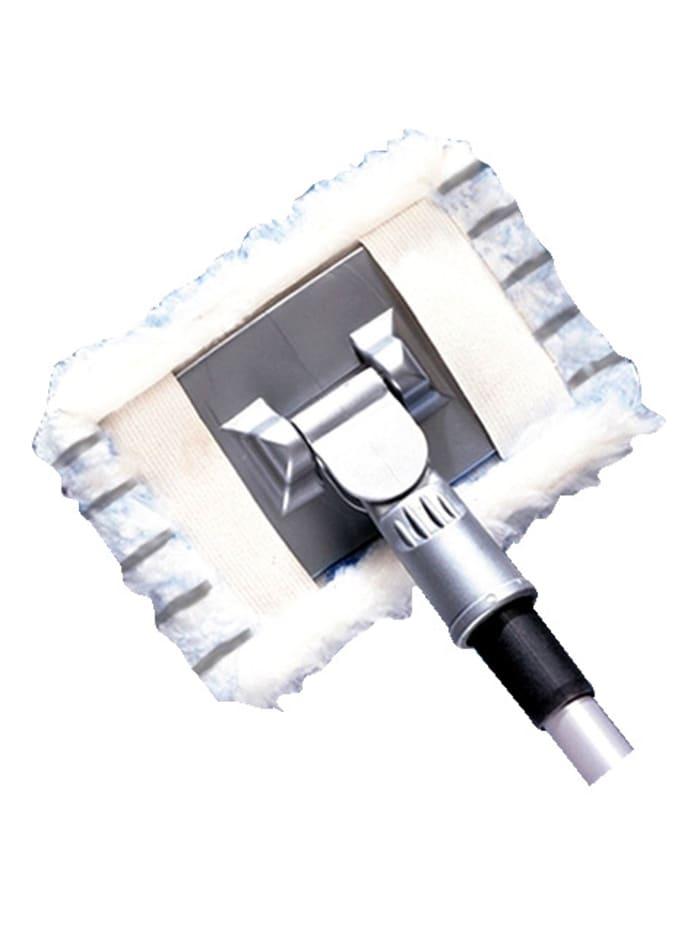 Wenko Balai nettoyeur pour salle de bains / carrelage 'Profi', Coloris argent/Blanc