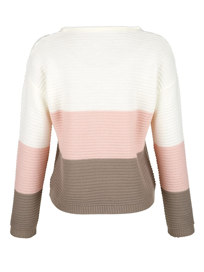 Pull-over à larges rayures