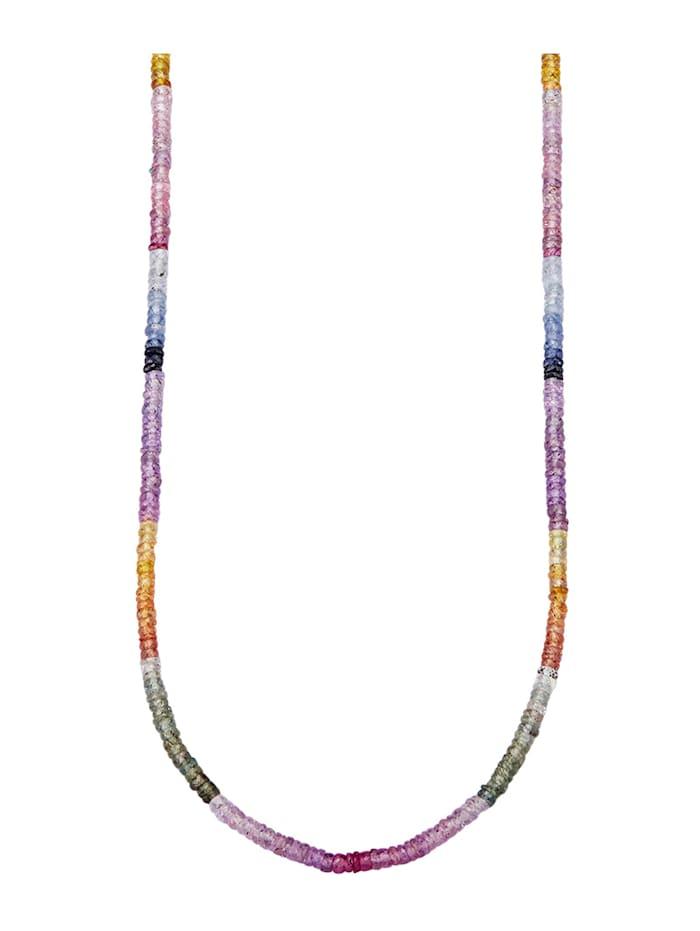 Diemer Farbstein Saphirkette multifarben, Multicolor