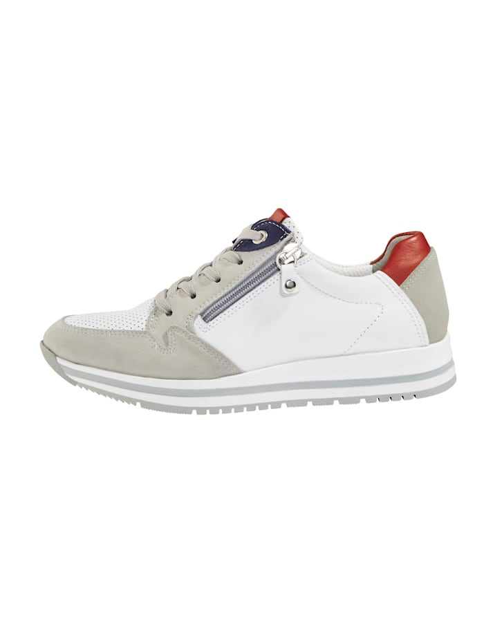 Trainers with zip detailing