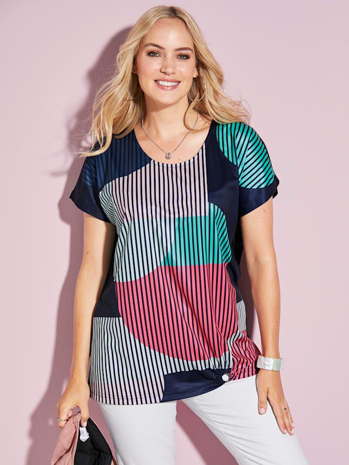 MIAMODA Shirt in toller Farbkombination, Multicolor