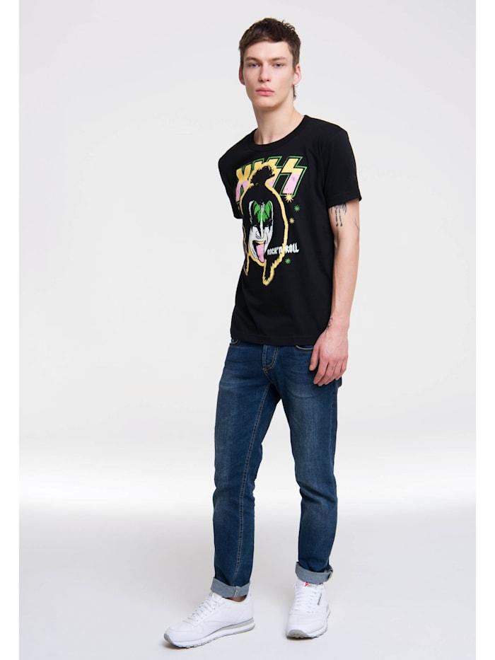 T-Shirt Kiss mit coolem Retro-Print