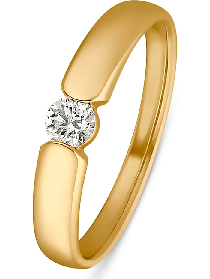 CHRIST Diamonds CHRIST Diamonds Damen-Damenring 1 Diamant, gelbgold