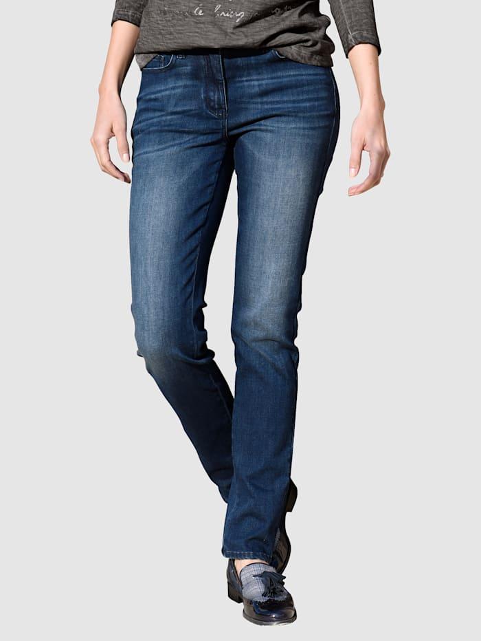 Alba Moda Jeans mit Powermesh-Einsatz, Dunkelblau