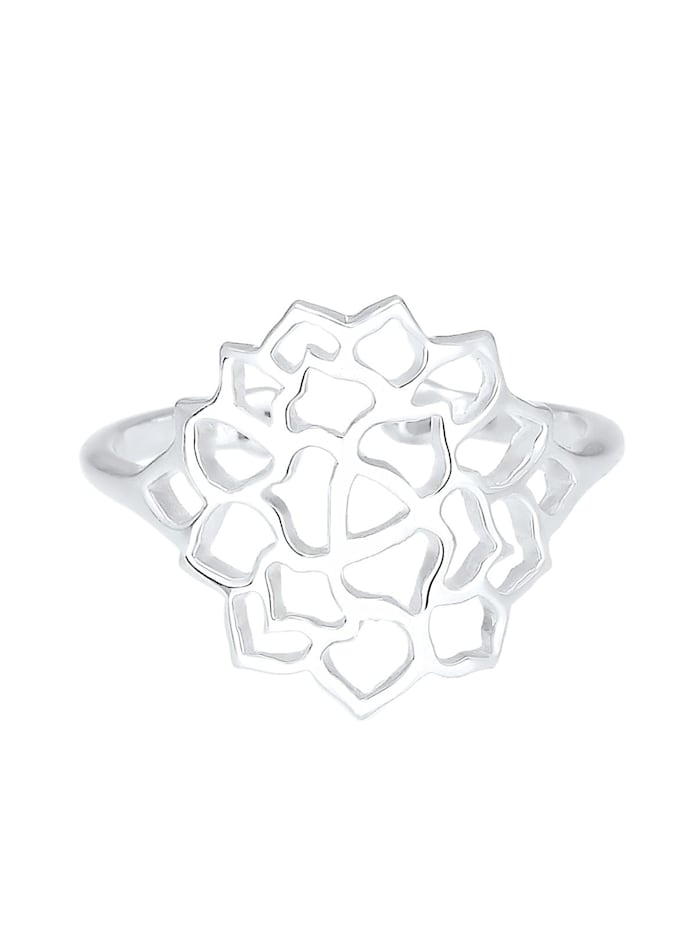 Ring Lotusblume Ornament 925 Sterling Silber