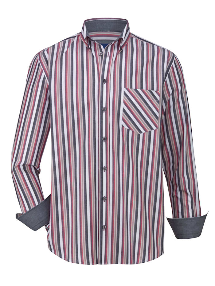 BABISTA Overhemd van zuiver katoen, Grijs/Roze