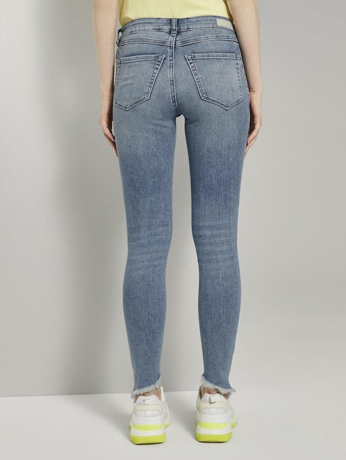 Jona Extra-Skinny Jeans mit Fransen