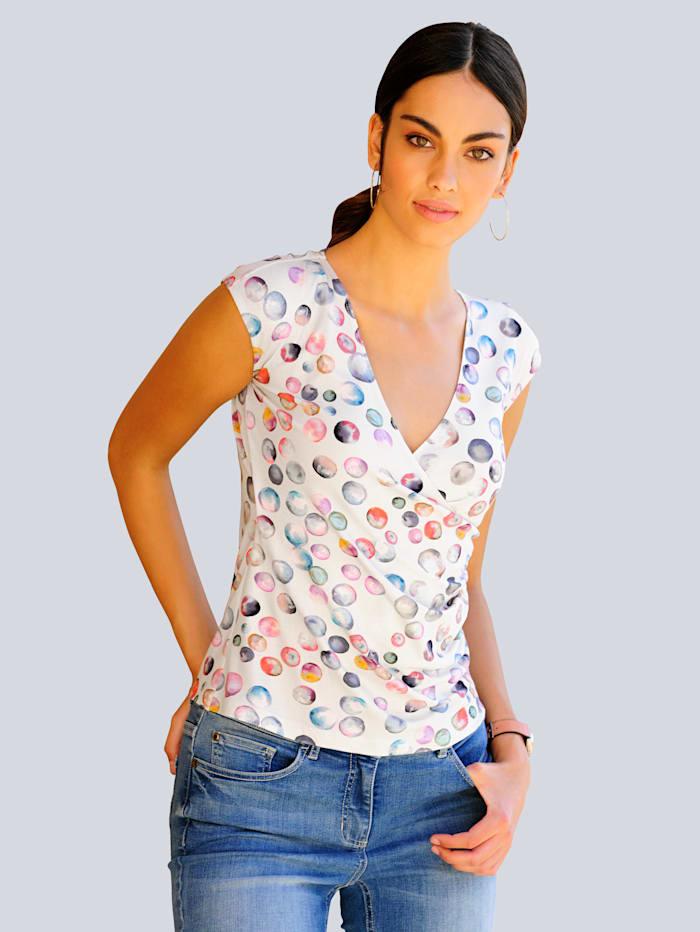 Shirt met kleurrijk stippendessin