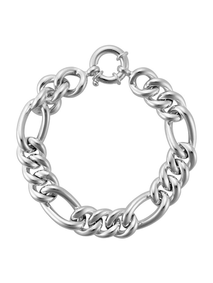 AMY VERMONT Figaro-Armband, Silberfarben