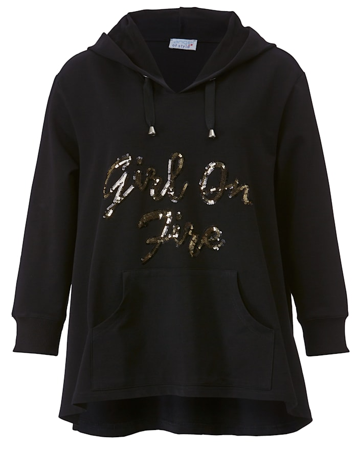 Sweatshirt mit Paillettenschriftzug