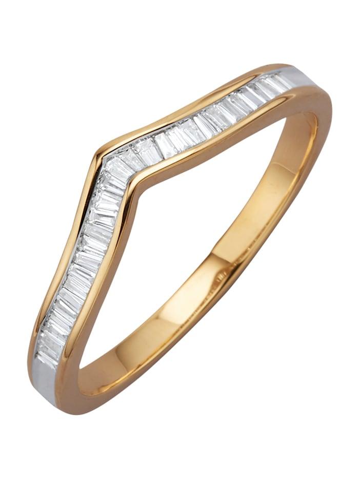 Amara Diamant Damenring mit Diamanten, Gelbgoldfarben