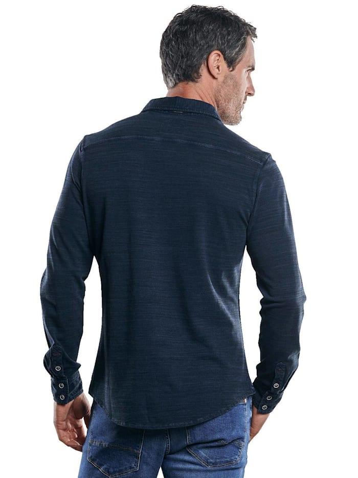 Strukturiertes Langarmhemd