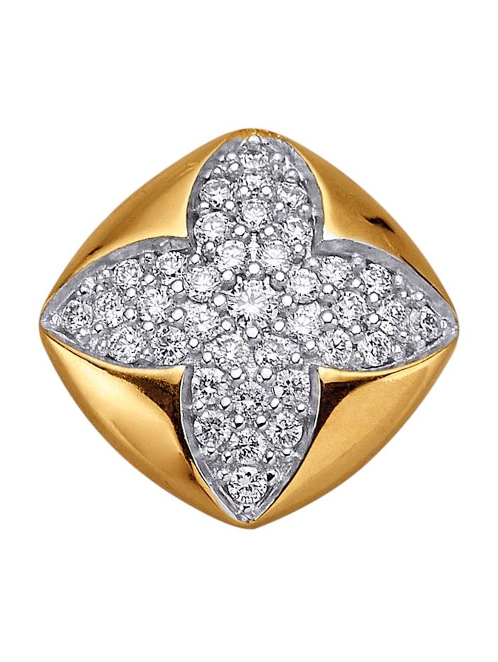 Amara Diamant Anhänger mit Brillanten, Gelbgoldfarben
